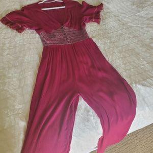 Boho fuchsia jumpsuit